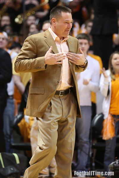 Jones signals for Smokey to give him a chest bump. Photo by Reed Carringer
